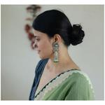 Handmade pure silver earrings