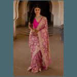 Pure tissue silk handloom banarasi saree