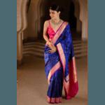 Pure katan silk handloom banarasi saree