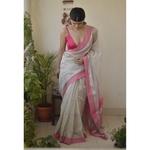 Handwoven Maheswari silk cotton saree