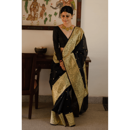 Handloom organza silk banarasi saree