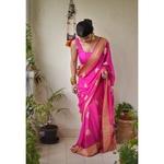 Kadiyal motif meenakari banarasi chiffon sari