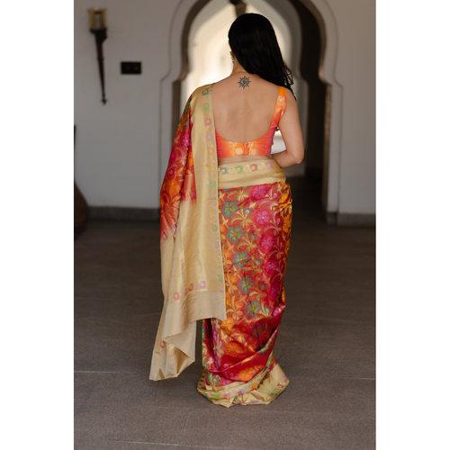 Handloom Katan patola silk banarasi saree