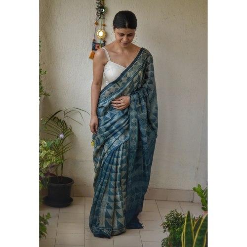 Handwoven tussar shibori silk