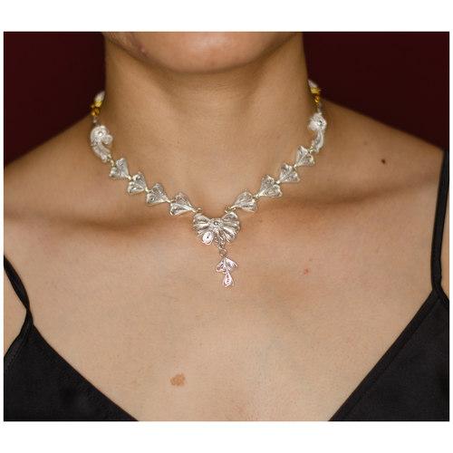 Handmade silver chand nakasihaar  neckpiece