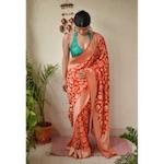 Banarasi khadiyal jari motif Khaddi georgette saree