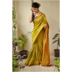 Handwoven matka silk saree with aari silk pallu