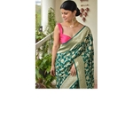 Handwoven kadhiyal jal jari motif Khaddi georgette Banarasi sareee
