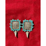 Handmade pure silver  turquoise  earrings