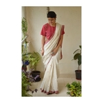 Handwoven Natural dye cotton saree