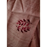 Handwoven  and hand embroidered tussar silk saree.