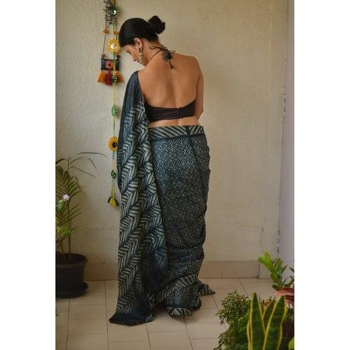 Handwoven tussar silk shibori saree