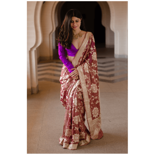 Pure tissue silk handloom banarasi saree