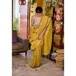 Handwoven jamdani bootis motif linen saree
