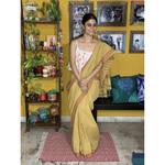 Handwoven Natural Dyed Cotton saree