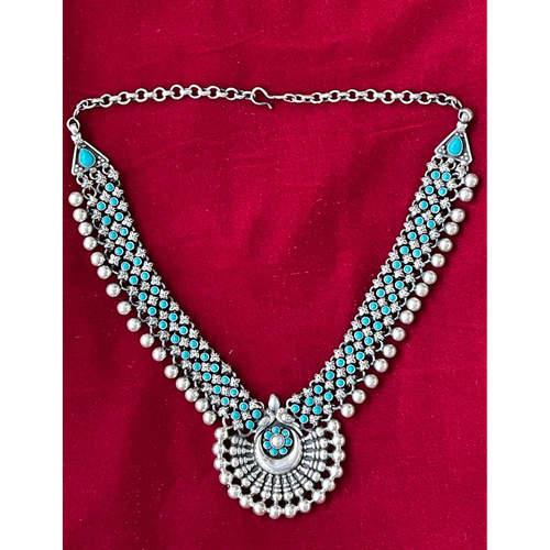 Handmade turquoise neckpiece.  .