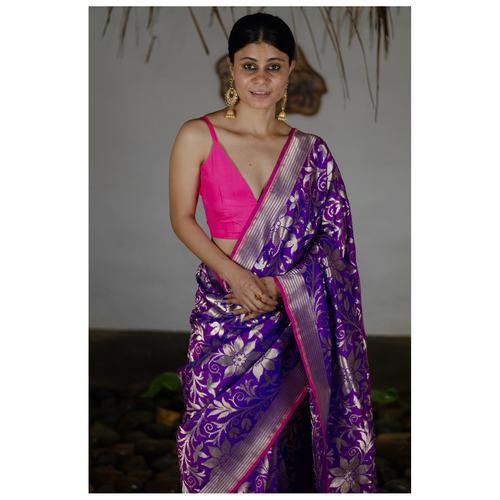 Handloom katan  silk banarasi saree.