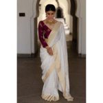 Pure moonga silk handloom banarasi saree
