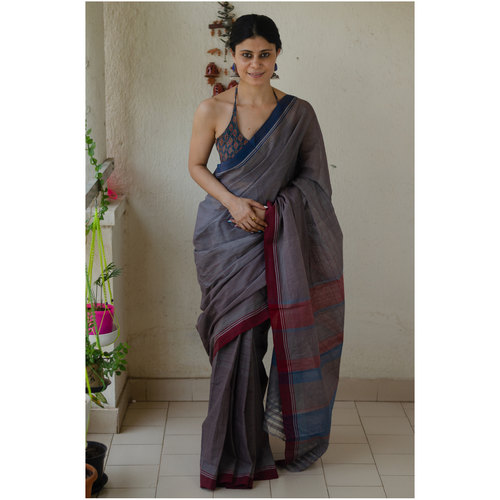 Handwoven handloom cotton saree