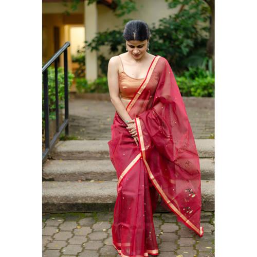 Handloom  soft resham by resham chanderi silk  saree