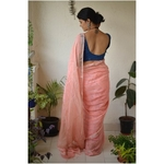 Handwoven Jari linen saree