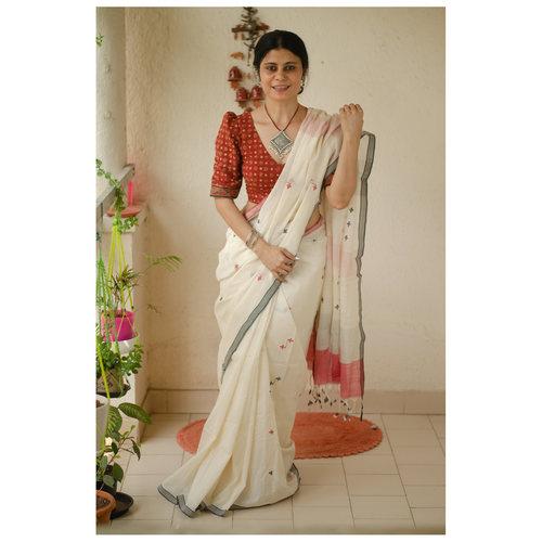 Handwoven handloom cotton saree