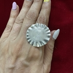 Handmade pure silver ring
