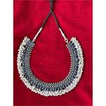 Handmade  pearl choker in silver