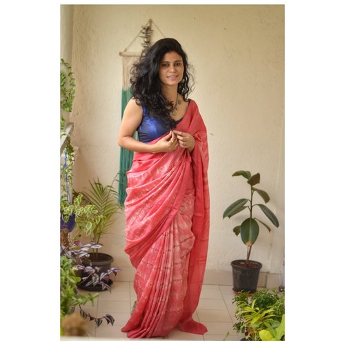 handwoven and handmade tussar shibori saree