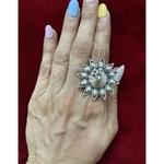 Handmade pure silver  ring with