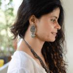 Handmade silver earring