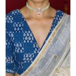Handmade silver chand chandrahasli neckpiece.
