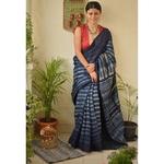 Handwoven tussar silk saree