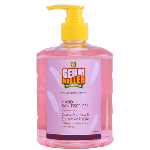 GK Hand Sanitiser Gel™ (Alcohol-based) (Baby Powder Frag.) 450ml