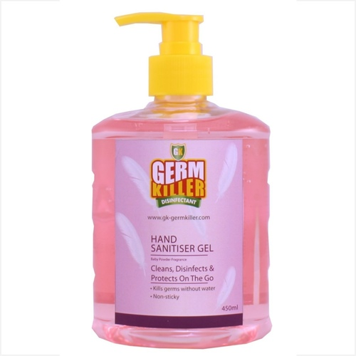 GK Hand Sanitiser Gel Alcohol-based Baby Powder Frag. 450ml