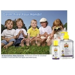 Twin Pack GK Hand Sanitiser Gel Water-Based Gel Baby Powder Frag. 450ml x 2