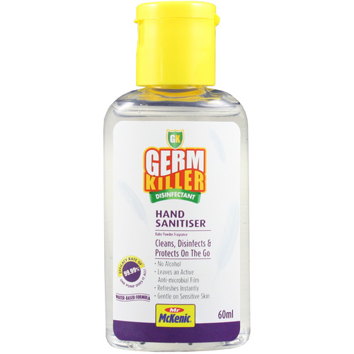 GK Hand Sanitiser Gel Water-Based Gel Baby Powder Frag. 60ml