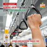 Bundle Pack GK Hand Sanitiser Gel Water-Based Gel Baby Powder Frag. 60 x 3