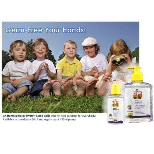 GK Hand Sanitiser Gel Water-Based Gel Baby Powder Frag. 500ml