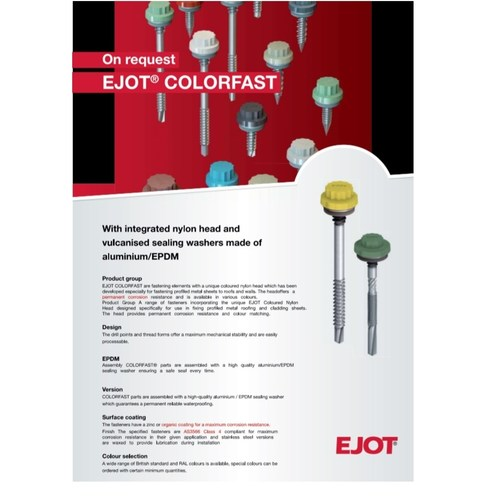 EJOT COLORFAST ROOFING & FACADE FASTENING SOLUTION