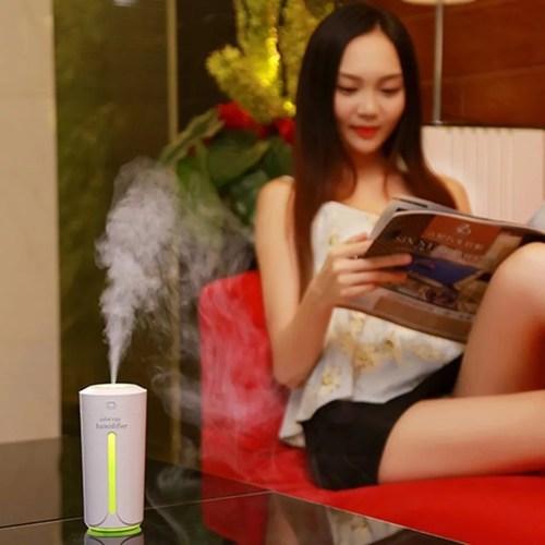 RGMS USB Mini Aroma Diffuser Air Purifier LED Lights Humidificador Cup Portable Car Air Purifier  White
