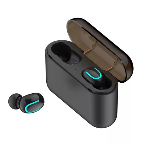 RGMS HBQ-Q32 Bluetooth Headset with Mic  (Black, In the Ear)