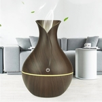 RGMS Diffuser Ultrasonic Humidifier with 7 Mood Changing LED Lights Portable Room Air Purifier  (Brown)