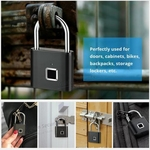 RGMS Fingerprint Padlock Keyless USB Rechargeable Door Lock Luggage Case Bag Lock Anti-Theft Security Keyless Smart Fingerprint Lock Door Locks  (Fingerprint)