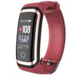 LONGET Smart Watch M4 Bluetooth Smart Bracelet  (Red Strap, Size : Free Size)