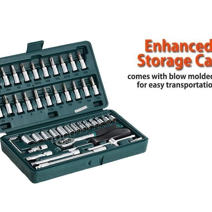 46pcsMetal 14 Socket Set Black, 46pcs