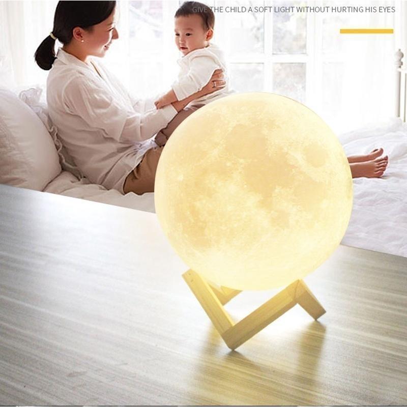 3D Moon Lamp IndiaMoon Shaped LampLed Moon LampLunar Moonlight Lamp - Multi Color