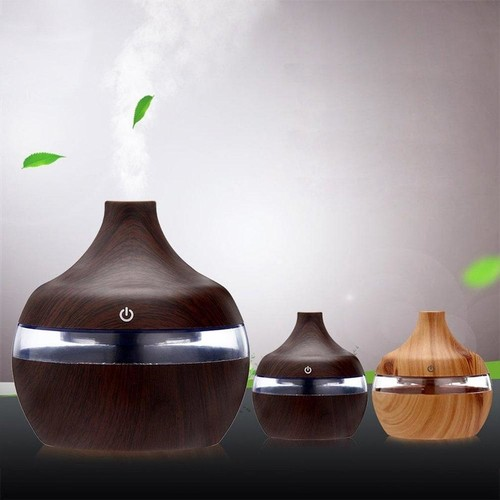 Wood Grain Aromatherapy Usb Humidifier Water Droplets Air Purification Essential Oil Aroma Diffuser Creative Home Grain