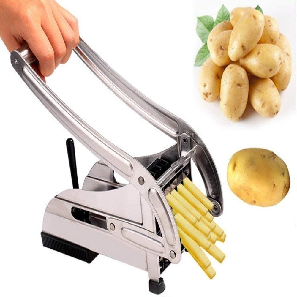 Stainless Steel French Fries Potato Chips Strip Cutter Machine