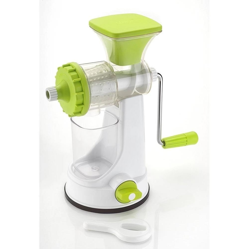 Plastic Multipurpose Manual Juicer Green